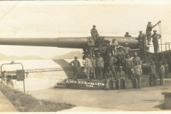 12 inch rifle and crew Post Marked Fort Terry NY 1918