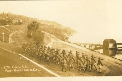 115th Company C.A.C. Fort Rosecrans CA dated on back May 12 1916