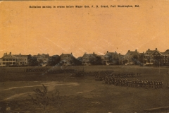 Battalion Passing In Review Before Major Gen F. D. Grant Fort Washington MD