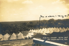C.M.T.C. Camp 12th Inf. Fort Washington MD
