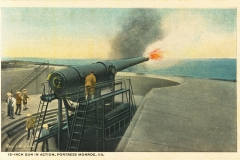 12 inch gun in action Fort Monroe VA 1