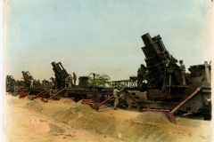 12 Inch Railway Mortars Colorized Photo