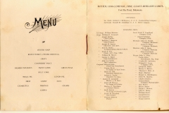 139th Company Mine CAC 1909 Roster and Menu Fort DuPont Delaware