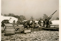 3 Inch Anti-Aircaft Gun Practice East Coast Jan 1942