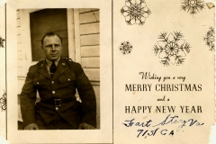 91st Coast Artillery Fort Story Merry Christmas Card