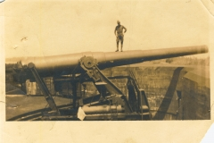 12 inch disappearing gun Fort Wadsworth NY Cpl Moore May 1922
