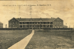 122nd and 123rd Co CAC quarters Fort Hamilton NY