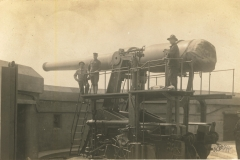 Disappearing Gun postmarked from Moultrieville SC