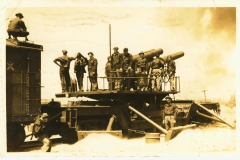 8 inch R.R. gun 52nd CAC Battery F post marked Fort Monroe 1936