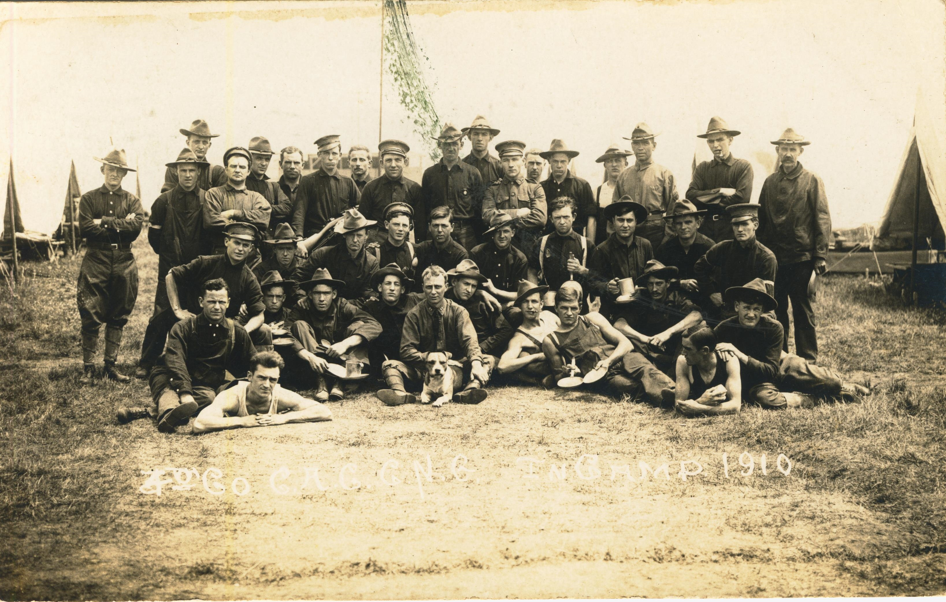 4th Co CAC C.N.G. in camp 1910