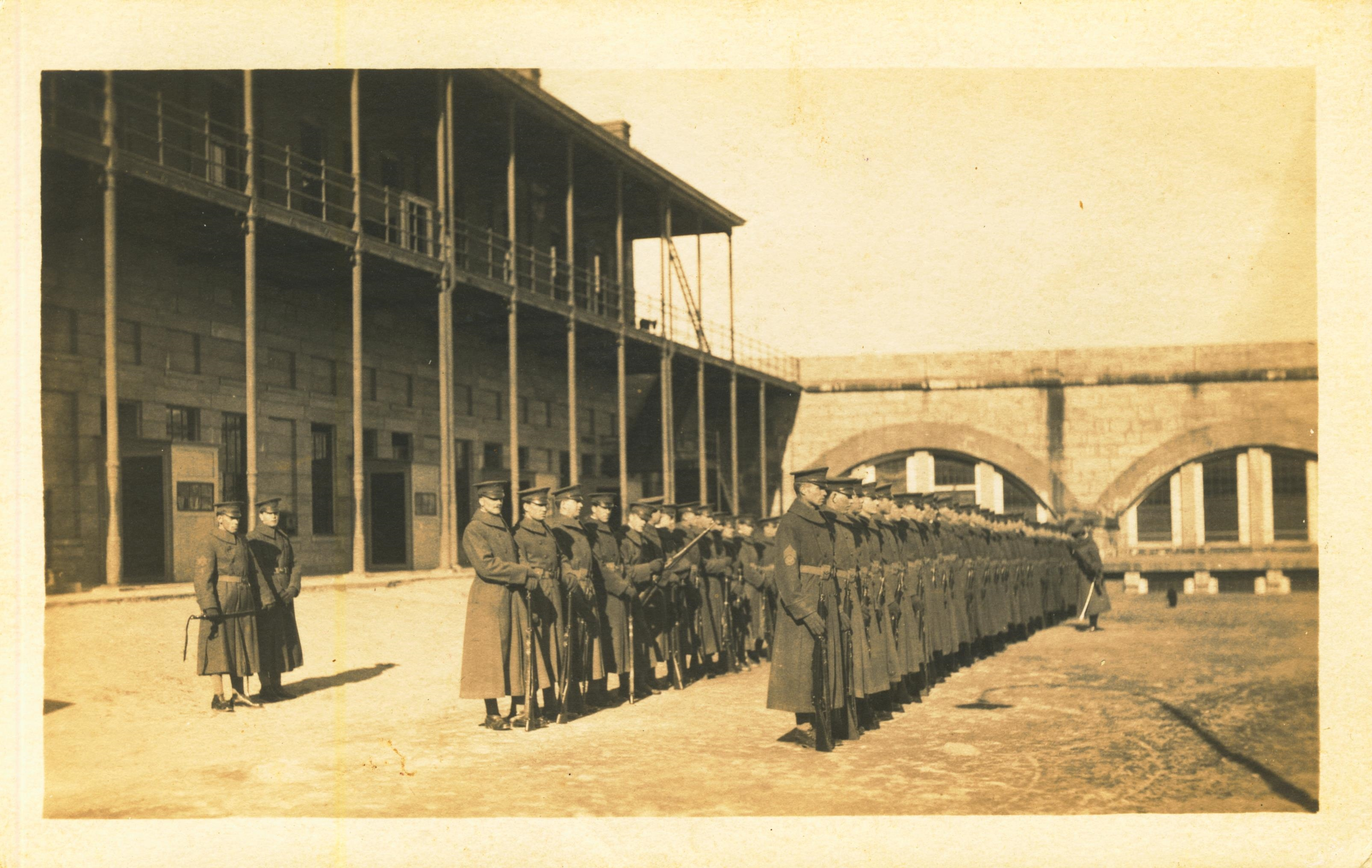 On back 102nd Co CAC March 1915