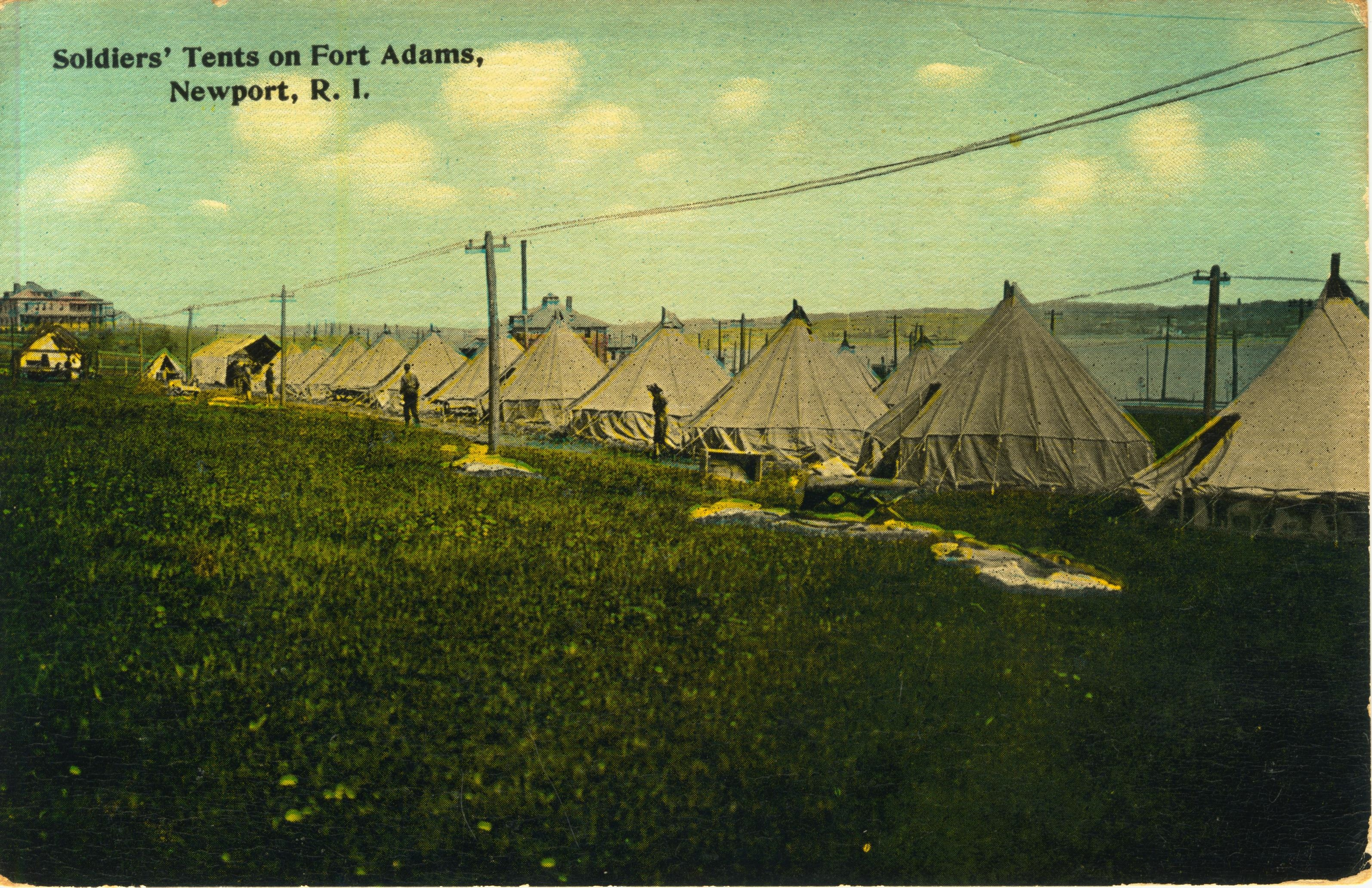 Soldiers tents on Fort Adams RI