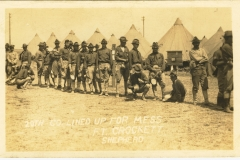 20th Company Lined Up For Mess Fort Crockett TX photo 2