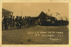 20th Company Lined Up For Mess Fort Crockett TX