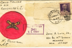 Envelope from Fort Randolph Canal Zone